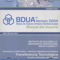 Cubierta para Base de datos urbano ambientales: Manual de usuario