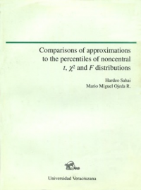 Cubierta para Comparisons of approximations to the percentiles of noncentral t, X² and F distributions